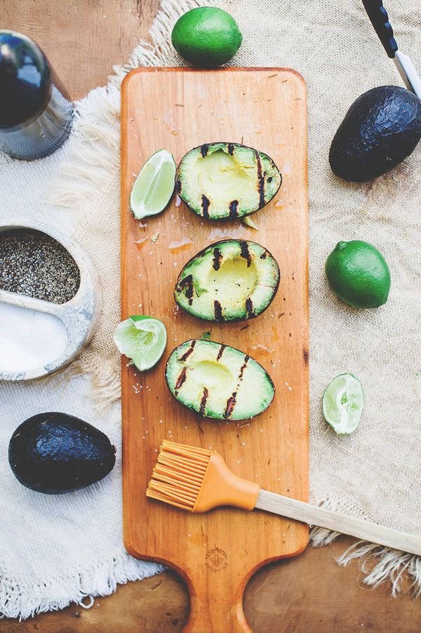 """<strong>Get the <a href=""""http://loriesmississippikitchen.com/2014/06/lime-grilled-avocados.html"""">Lime Grilled Avocados</a> fr"""