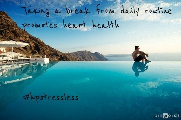 "Vacations reduce the risk of heart attack by 30% in men and 50% in women, <a href=""http://www.pbs.org/thisemotionallife/blogs"