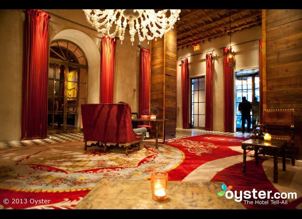 The Gramercy Park Hotel currently sets the bar for New York cool -- hence the celebrities in the lounge and the paparazzi on