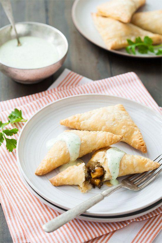 "<strong>Get the <a href=""http://www.loveandoliveoil.com/2013/02/vegetarian-lentil-and-sweet-potato-empanadas.html"">Vegetarian"