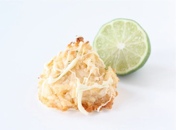 """<strong>Get the <a href=""""http://www.twopeasandtheirpod.com/coconut-lime-macaroons-with-white-chocolate/"""">Coconut Lime Macaroo"""