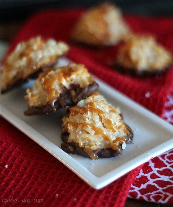 """<strong>Get the <a href=""""http://cookiesandcups.com/salted-caramel-coconut-macaroons/"""">Salted Caramel Coconut Macaroons recipe"""
