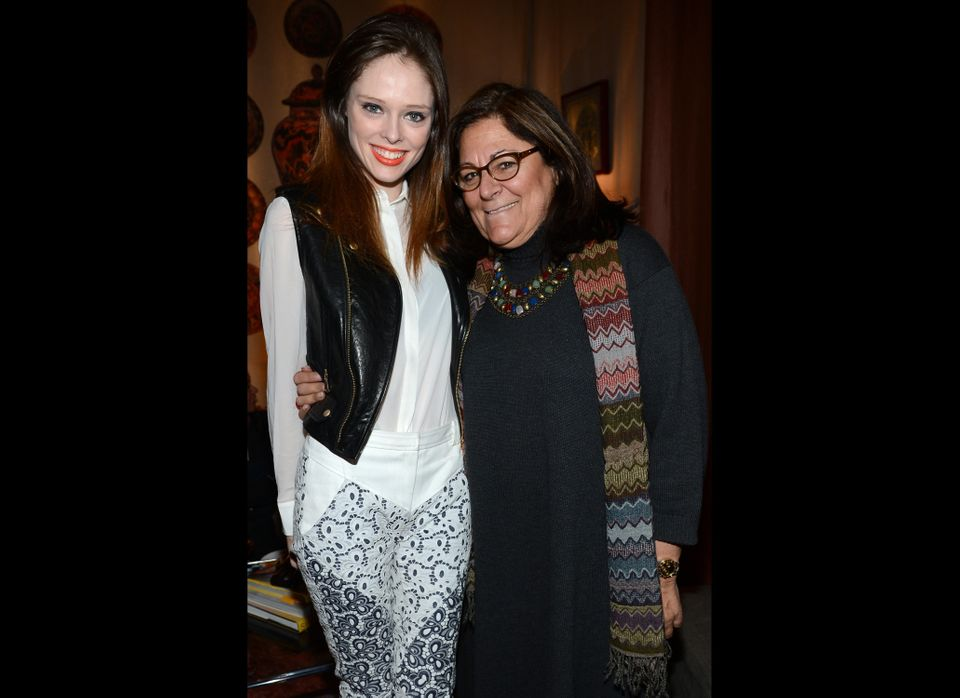 NEW YORK, NY - FEBRUARY 08: Model Coco Rocha and Fern Mallis attends the Mercedes-Benz Star Lounge during Mercedes-Benz Fashi