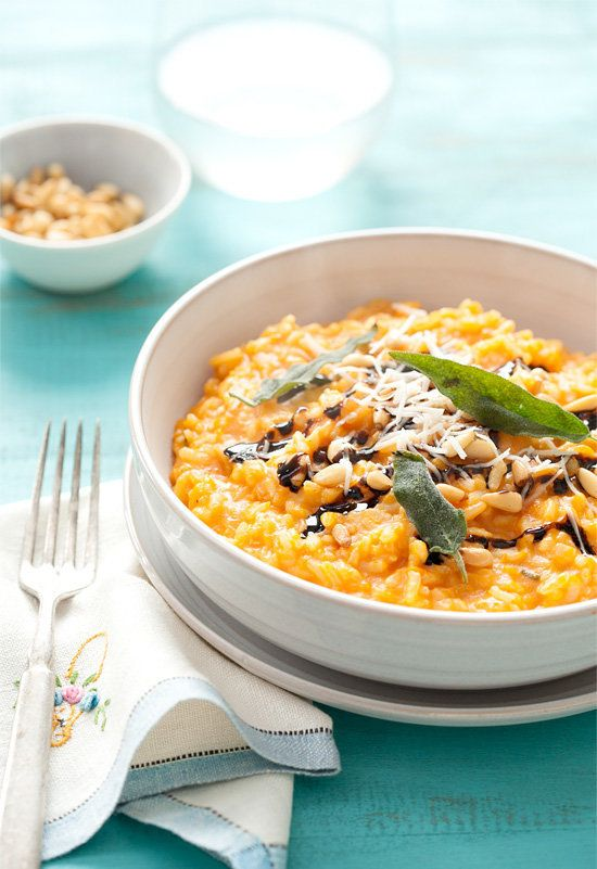 "<strong>Get the <a href=""http://www.loveandoliveoil.com/2013/02/butternut-squash-risotto-with-pine-nuts-balsamic-drizzle-and-"