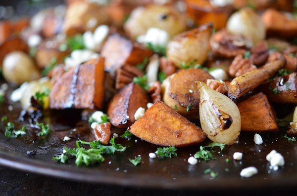 "<strong>Get the <a href=""http://www.thenovicechefblog.com/2013/02/the-roots-balsamic-roasted-root-vegetables/"">Balsamic Roast"