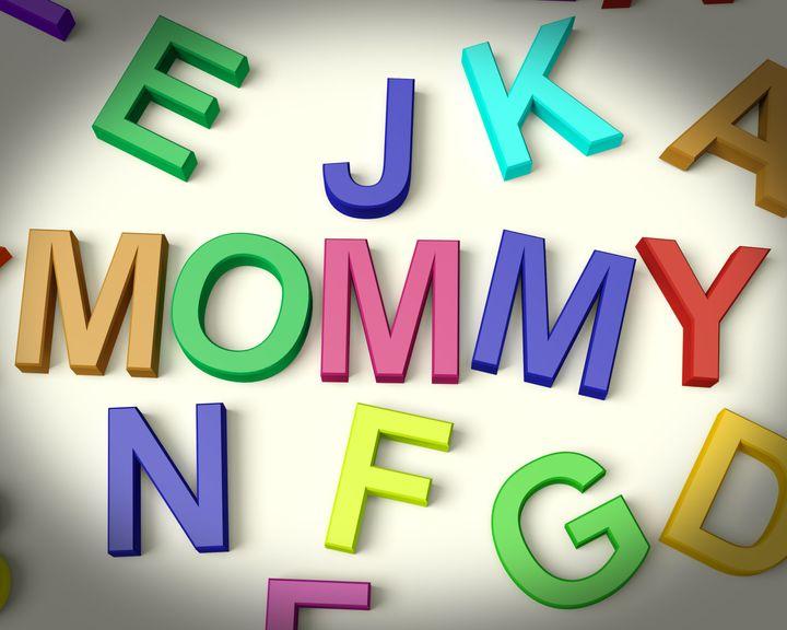 mommy written in multicolored...