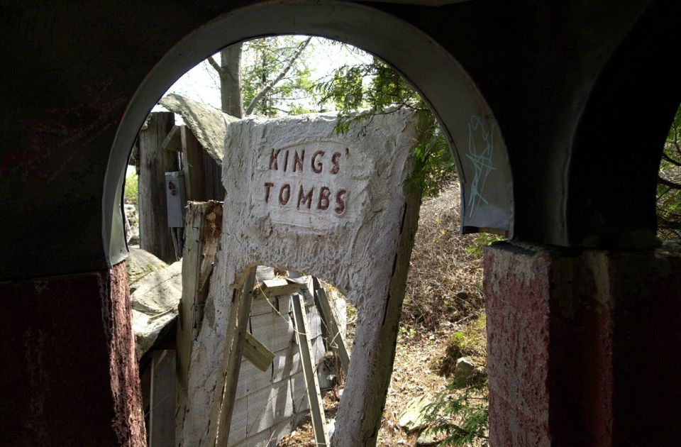 Kings' Tombs seen in pieces at Holy Land, Thursday, May 4, 2000, was first open to the public in 1958.  (Steve Miller / AP)