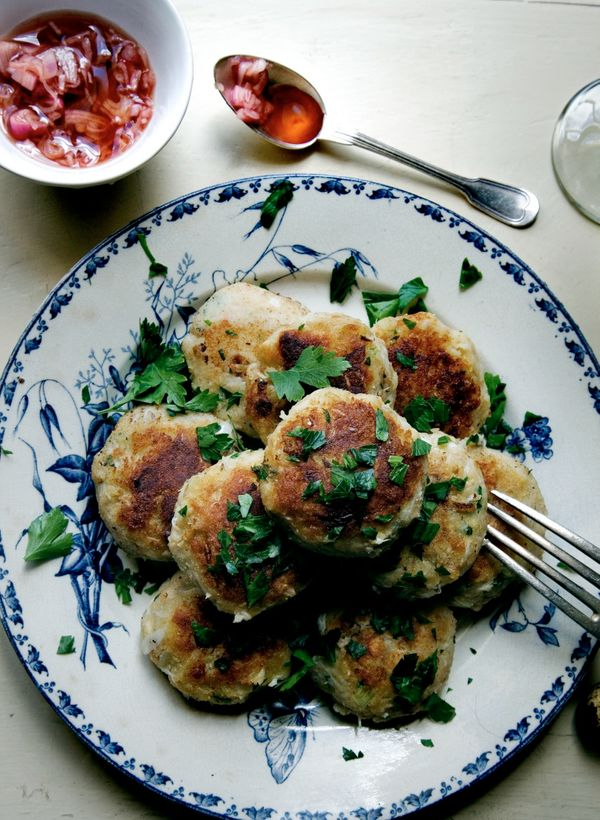 "<strong>Get the <a href=""http://mimithorisson.com/2012/07/10/spider-crab-cakes/"" target=""_blank"">Spider Crab Cakes</a> recipe"