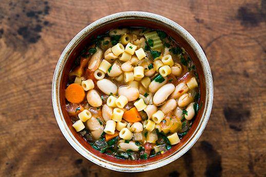 "<strong>Get the <a href=""http://www.simplyrecipes.com/recipes/pasta_e_fagioli/"" target=""_blank"">Pasta e Fagioli recipe from S"