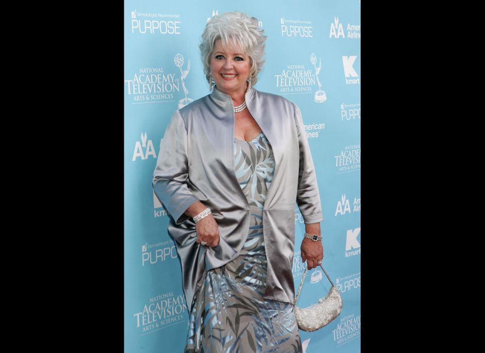 Silvery and satiny -- but does the bag match the hair a little too much?