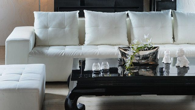 classic home decoration with black and white
