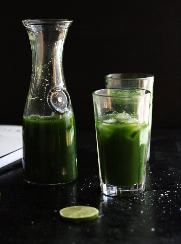 "<strong>Get the <a href=""http://www.cookrepublic.com/recipe-archive/think-green-juice/"" target=""_blank"">Green Juice recipe</a"