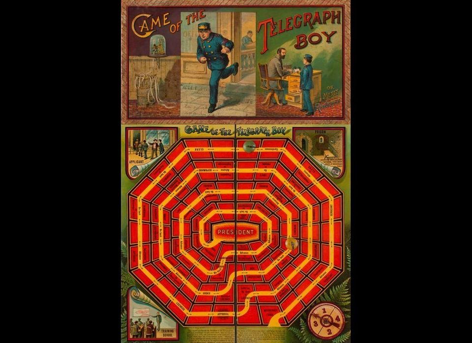 """Game of the Telegraph Boy was one of many games from the 1880s that depicted the American capitalist dream of Horatio Alger'"