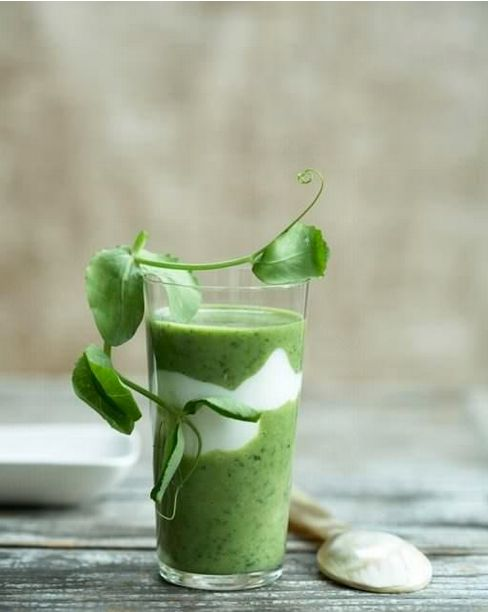 """<strong>Get the<a href=""""http://www.sweetpaulmag.com/food/ramp-and-watercress-soup"""" target=""""_blank""""> Ramp and Watercress Soup"""