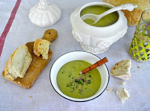 """<strong>Get the <a href=""""http://food52.com/recipes/21518-watercress-soup"""" target=""""_blank"""">Creamy Watercress Soup recipe</a> f"""