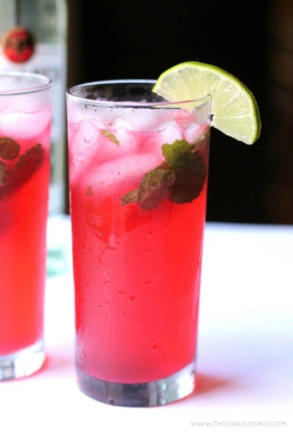 """<strong>Get the <a href=""""http://www.thisgalcooks.com/2013/07/12/blackberry-mojito/"""" target=""""_blank"""">Blackberry Mojito recipe<"""