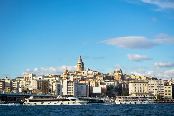 beautiful view of istanbul city ...