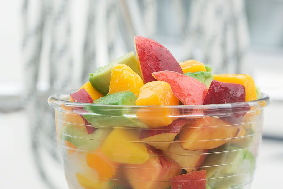 The simple act of eating a healthy snack can be both energizing and de-stressing. Focus on the textures and flavors of the fo
