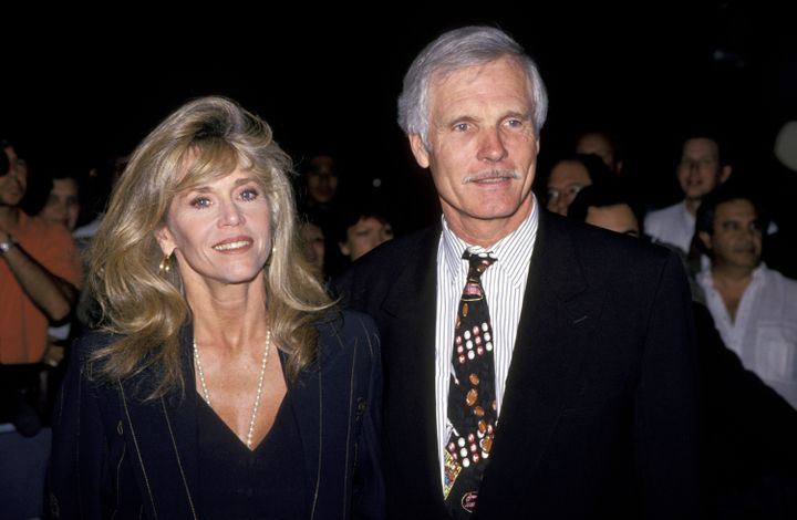 Jane Fonda and Ted Turner during TBS' 'A Century of Women' New York City Premiere at Hudson Theater in New York City, New York, United States. (Photo by Jim Smeal/WireImage)