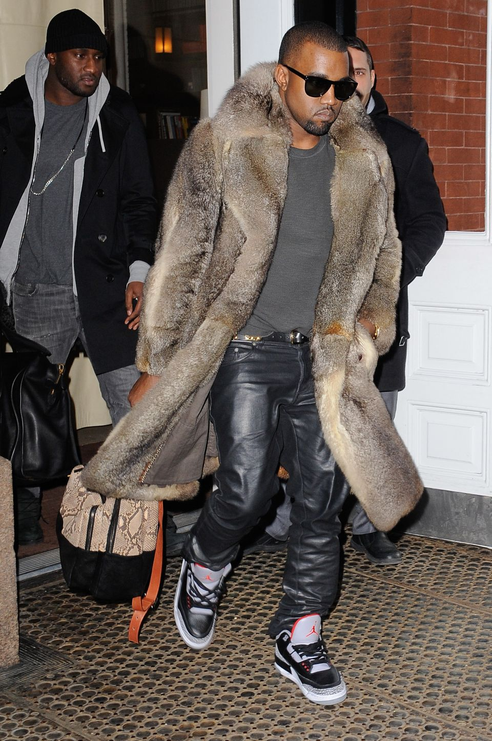 Kanye West really doesn't know how to hold his tongue, and he also really loves wear fur. So it's safe to say that he and PET