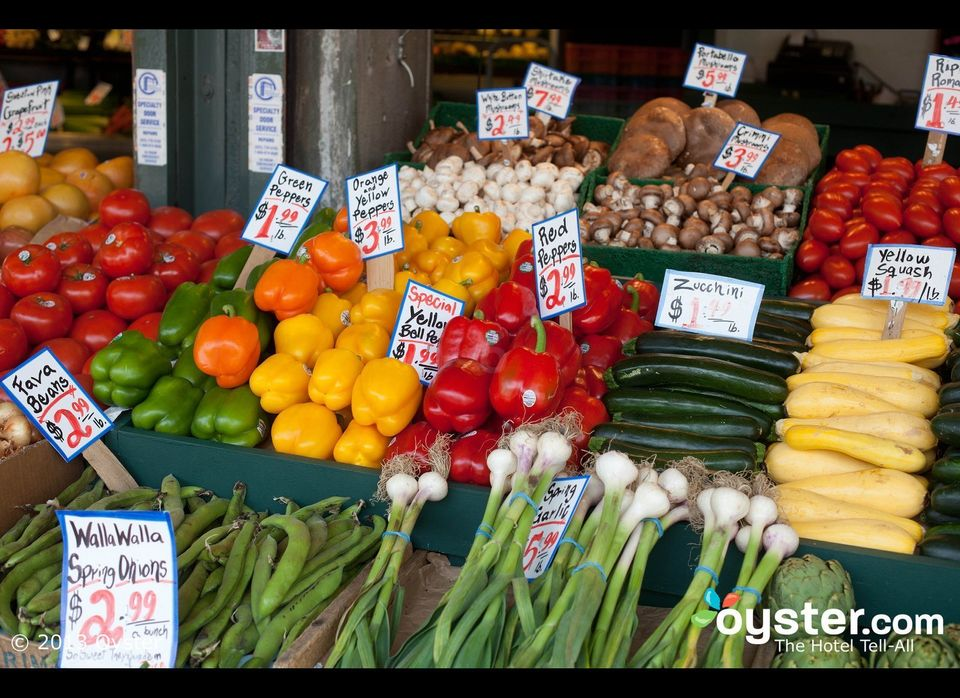 Pike Place is one of Seattle's main attractions. Featuring numerous produce, meat, and fish stands, the market also has plent