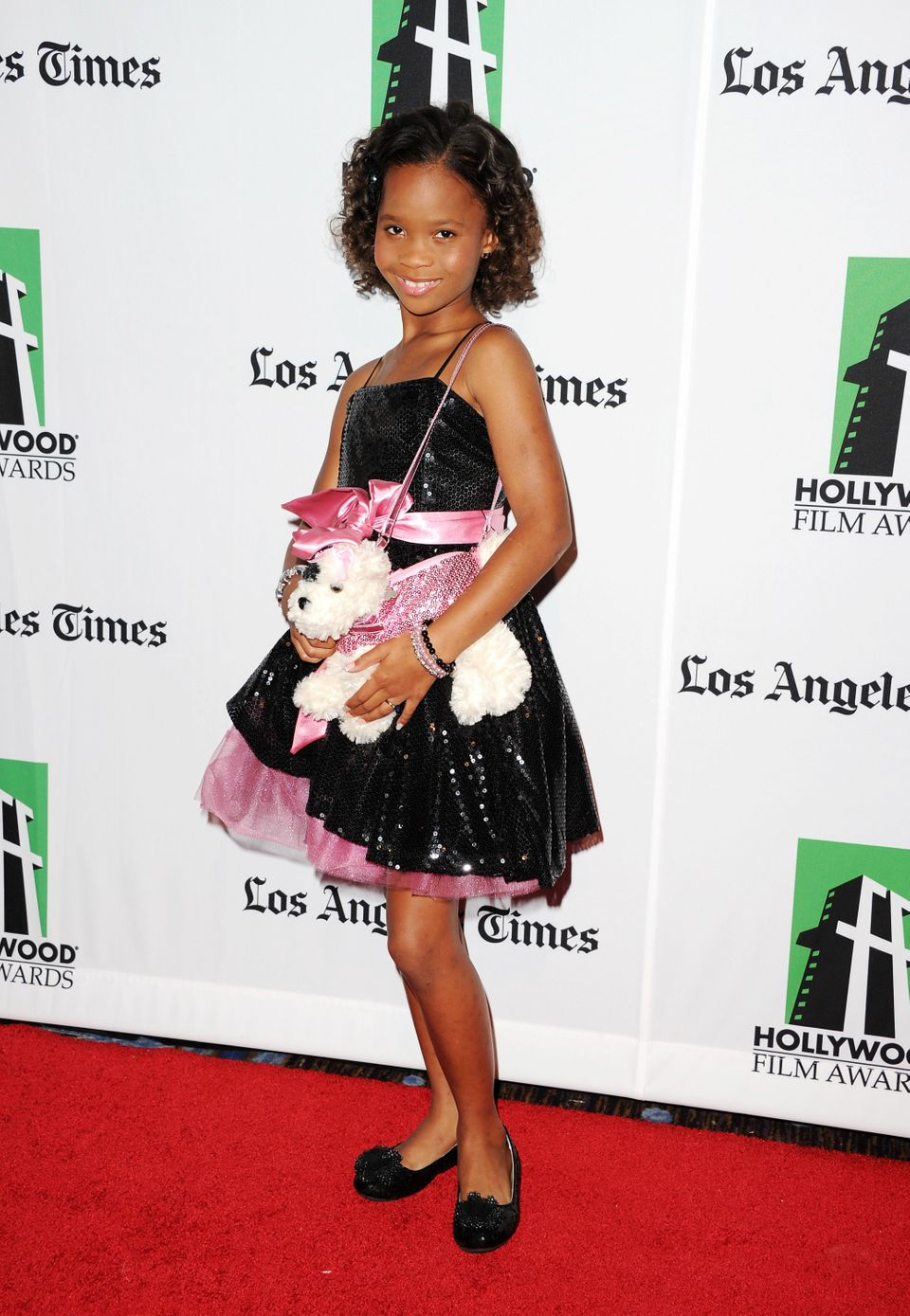 BEVERLY HILLS, CA - OCTOBER 22:  Actress Quvenzhané Wallis arrives at the 16th Annual Hollywood Film Awards Gala presented by