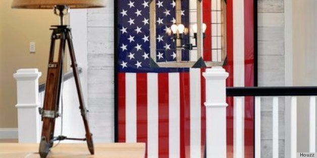 Decorating with red white and blue may sound kitsch but the trend towards all things Americana has been growing in recent years. & American Flags And Other Vintage Patriotic Decor Are Hot Trends In ...