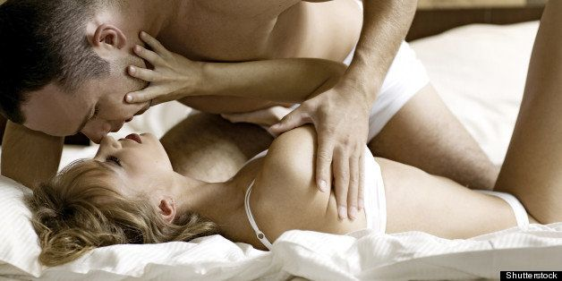 intimate young couple during...