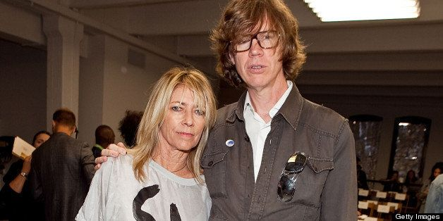 Kim Gordon and Thurston Moore of Sonic Youth attend the Rodarte Spring 2011 fashion show during Mercedes-Benz Fashion Week on September 14, 2010 in New York City.