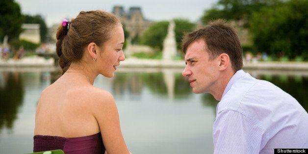 romantic couple in paris in the ...