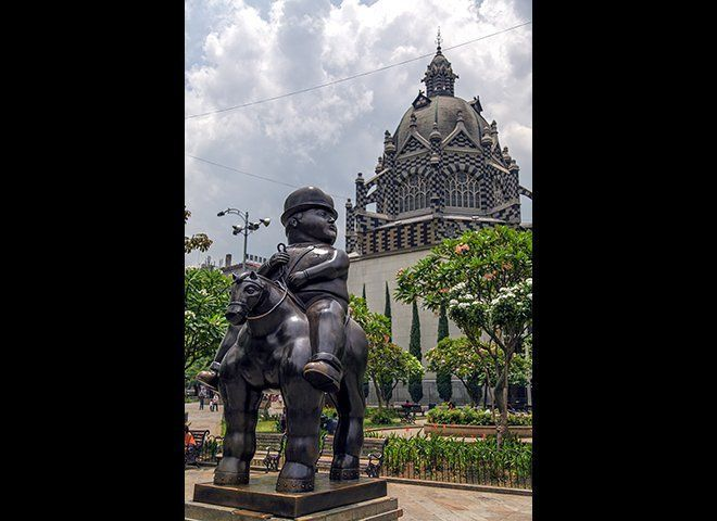 Colombia's famed artist Fernando Botero donated a series of massive bronze sculptures to a popular public park in the heart o