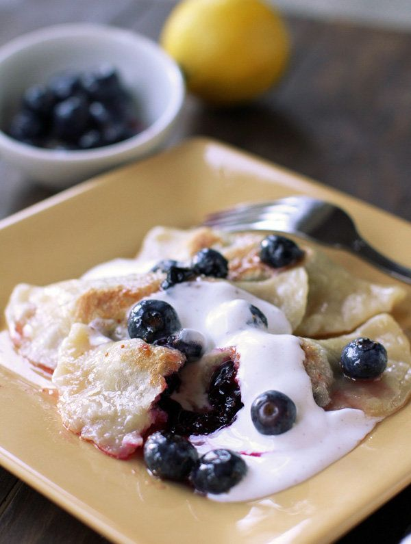 """<strong>Get the <a href=""""http://www.dashofeast.com/2011/07/lemon-blueberry-pierogi-with-spiced-sour-cream/"""" target=""""_blank"""">L"""