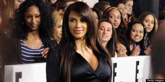 NEW YORK, NY - APRIL 22:  TV personality Kim Kardashian attends the E! 2013 Upfront at The Grand Ballroom at Manhattan Center
