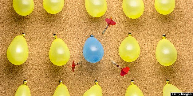 Balloons on Dartboard