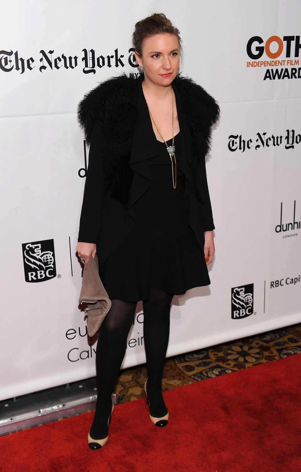Director Lena Dunham attends IFP's 20th Annual Gotham Independent Film Awards at Cipriani, Wall Street on November 29, 2010 i