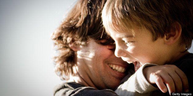 Kid and Dad having fun