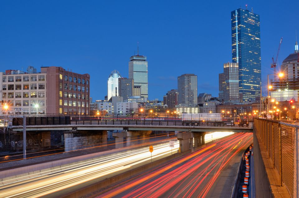 """Boston drivers lost an average of 31 hours in 2012 to traffic, down 22 percent from 2011.   Data from <a href=""""http://www.inr"""