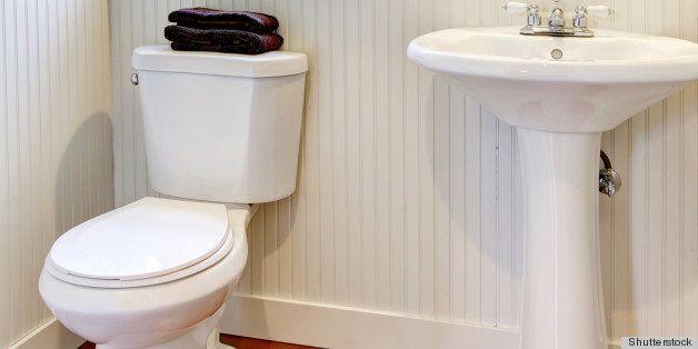 Nice small new simple and elegant bathroom.