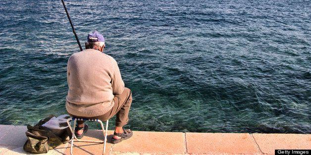 Old man fishing, Chania, Crete