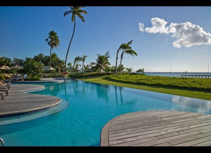 This Four Seasons sits on a large, attractive beach on the small island of Nevis. The gorgeous rooms here may be the highligh
