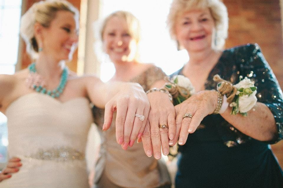"@candicelyna: ""Here's me with my Mom and her Mom on my wedding day :) Three generations"""