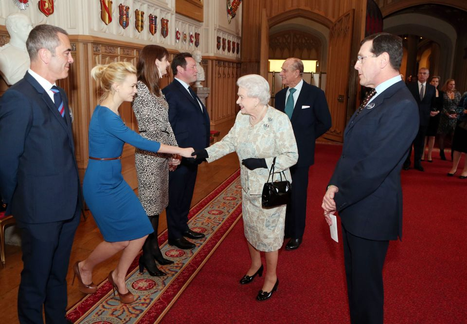 At a reception for the British Film Industry at Windsor Castle on April 4, 2013