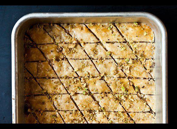 "<em><strong><a href=""http://food52.com/recipes/16459-almond-baklava"" target=""_hplink"">Get the recipe on Food52</a></strong>.<"