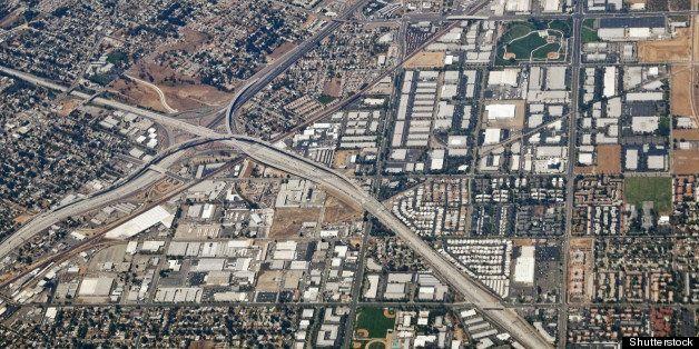 riverside california aerial at...