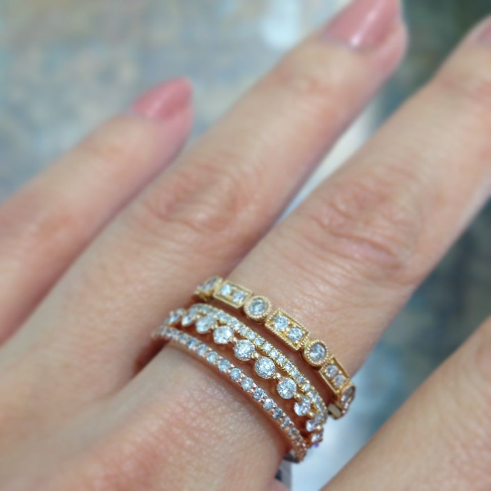 Stackable Wedding Bands.Stackable Wedding Bands Are One Of Our Favorite Jewelry Trends