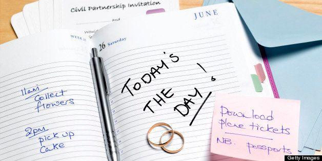 Civil partnership planning diary