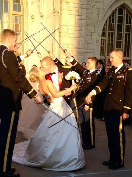 """""""My sister married a West Point graduate and two-time deployed soldier over the weekend""""  Submitted by Maggie Fairchild"""