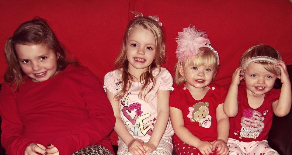 Ashton, 9, Rylee, 4, Addison, 3, and Kylin 2.
