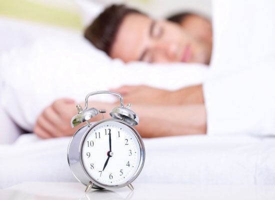 """Our sleep cycles are regulated by the """"circadian clock"""" in our brains.  By maintaining a regular bedtime and wake time -- eve"""
