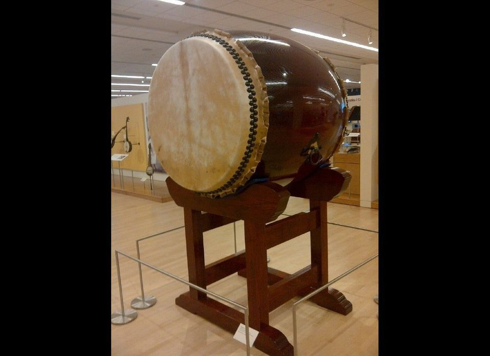 A large drum is just one of the 5,000 instruments on display at the Musical Instrument Museum. (Photo by Scott Bridges)